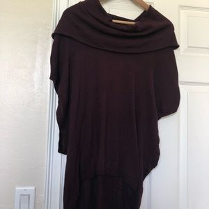 Women's cowl neck open side lightweight sweater